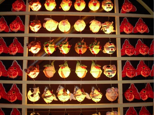 ねぶた祭りの特徴的な提灯
